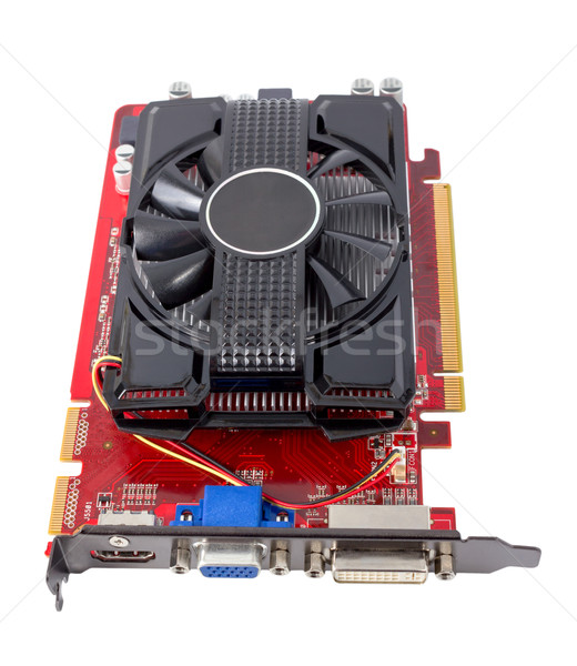Electronic collection - Computer videocard Stock photo © nemalo