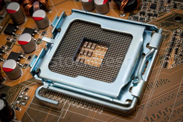 Elektronische collectie lege cpu stopcontact bewerker Stockfoto © nemalo