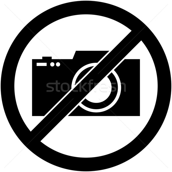 No photography, camera prohibited symbol. Vector. Stock photo © nemalo