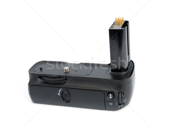 Stockfoto: Camera · batterij · greep · dslr · camera · geïsoleerd
