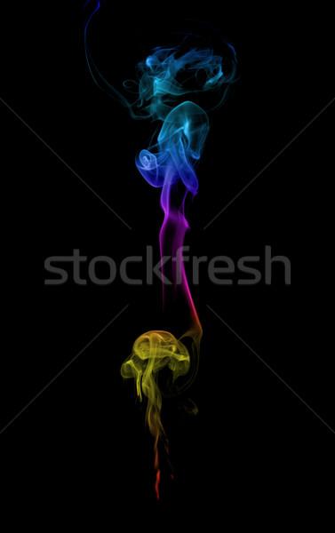 Absztrakt tarka füst sötét tűz terv Stock fotó © nemalo