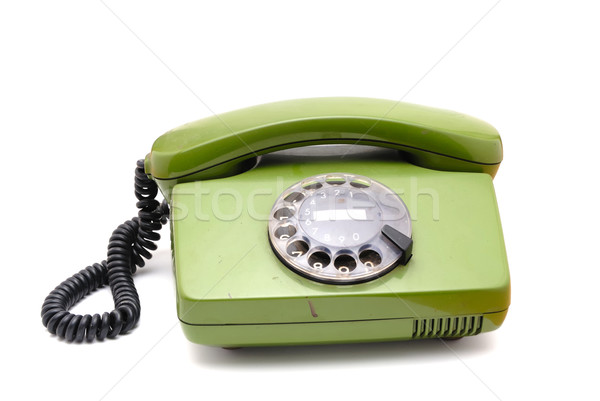 Old analogue disk phone Stock photo © nemalo