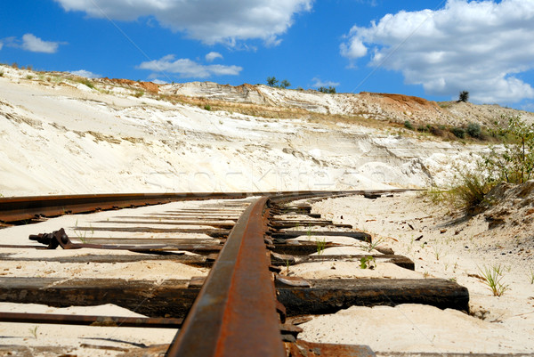Old rusty railway Stock photo © nemalo