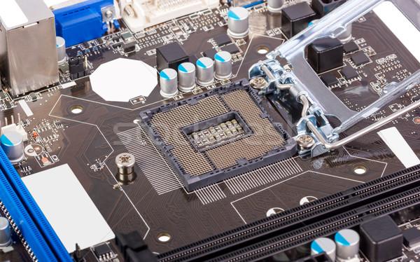 Elektronikus gyűjtemény üres processzor foglalat processzor Stock fotó © nemalo