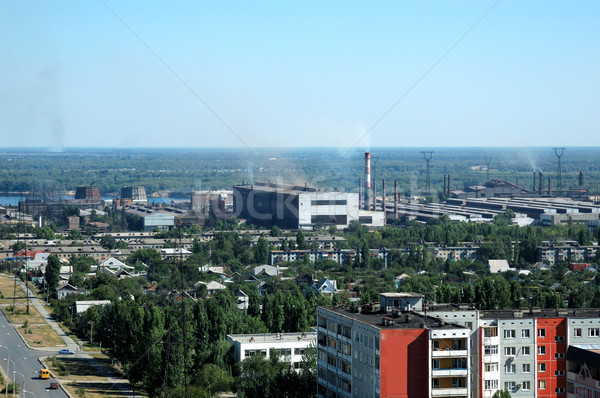 Russia kind on the city of Volgograd from height Stock photo © nemalo