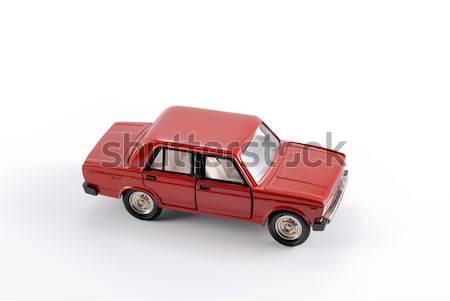 Ensemble échelle modèle rouge voiture métal Photo stock © nemalo