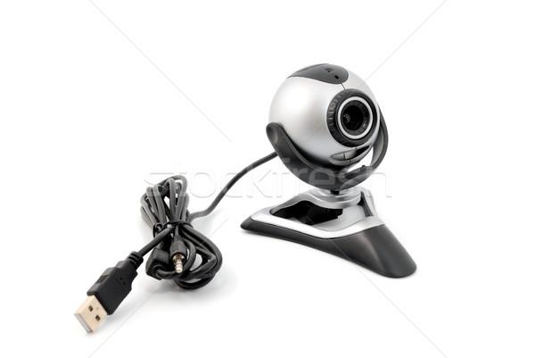 Webcam moderne geïsoleerd witte veiligheid web Stockfoto © nemalo