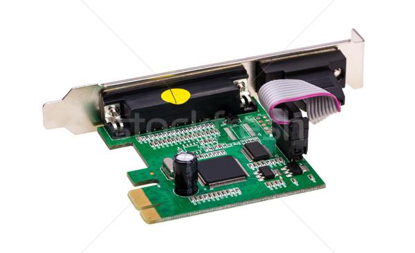 Eletrônico coleção computador digital porta cartão Foto stock © nemalo