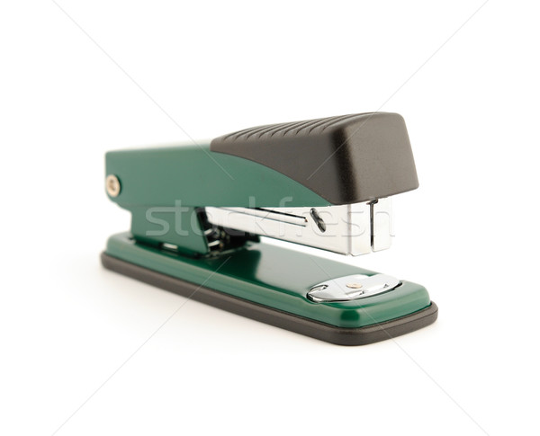 Cucitrice metallico ufficio isolato bianco carta Foto d'archivio © nemalo