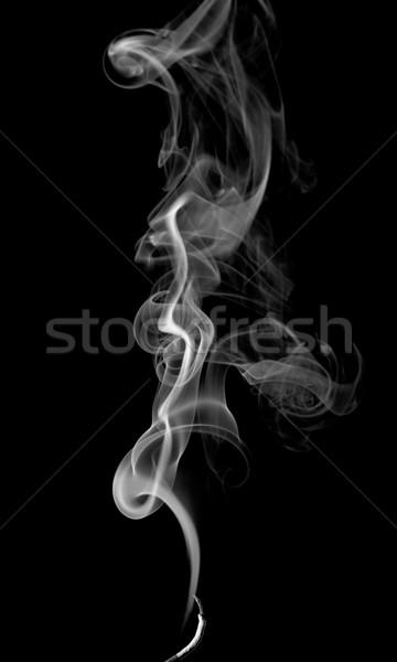 Abstract rook licht donkere brand zwarte Stockfoto © nemalo