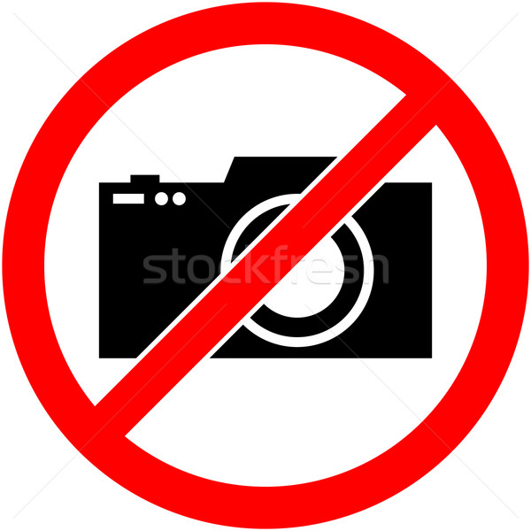 Nem fotózás kamera tilos szimbólum vektor Stock fotó © nemalo