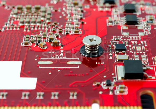 Elektronische collectie onderdelen circuit board computer abstract Stockfoto © nemalo