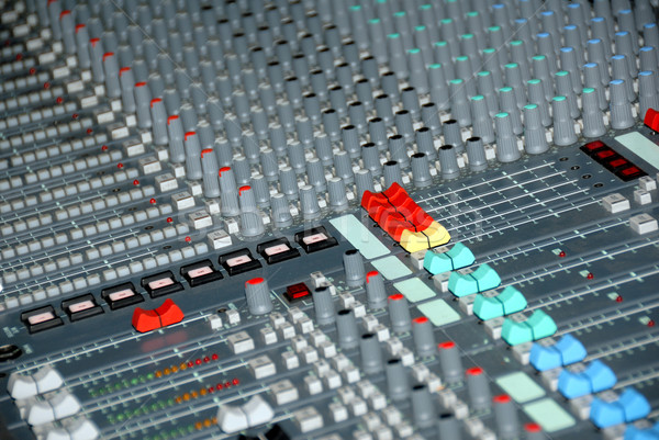 Sound trösten Audio Tonstudio Mixer Musik Stock foto © nemalo