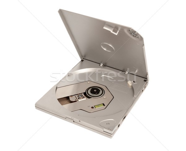 Electronic collection - Portable external slim CD DVD drive Stock photo © nemalo