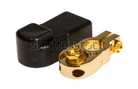 Negative contact terminal CAR battery  Stock photo © nemalo