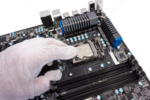 Elektronicznej kolekcja instalacja edytor nowoczesne CPU Zdjęcia stock © nemalo