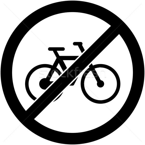 Nem bicikli felirat terv bicikli tilos Stock fotó © nemalo