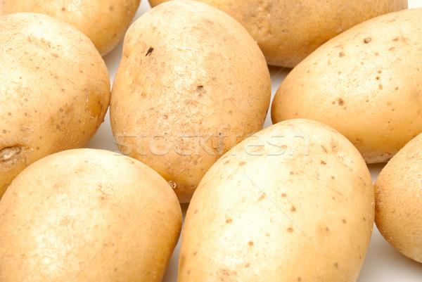 Stockfoto: Hoop · aardappel · geïsoleerd · witte · achtergrond · groep
