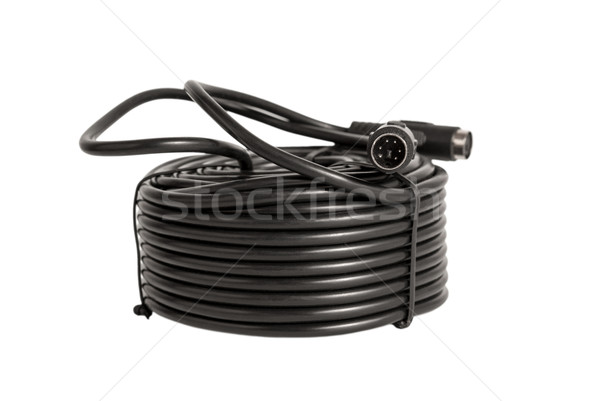 Electronic collection - coaxial cables with PS2 connectors for s Stock photo © nemalo