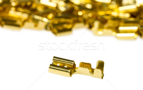Electrical component bronze cable terminal connector Stock photo © nemalo