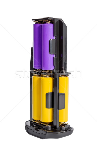 Adapter AA batteries for the battery handle modern DSLR camera Stock photo © nemalo