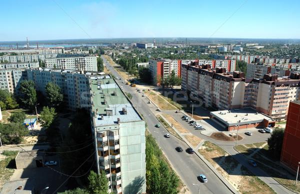 Rusia ciudad altura casa luz casa Foto stock © nemalo