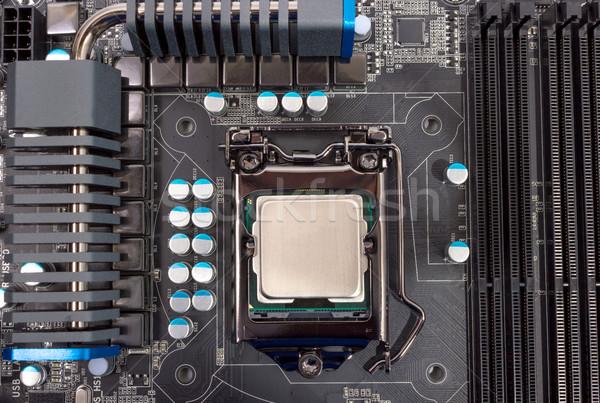 Foto stock: Eletrônico · coleção · poder · moderno · processador · cpu