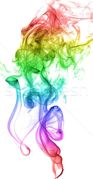 Absztrakt tarka füst fény művészet hullám Stock fotó © nemalo