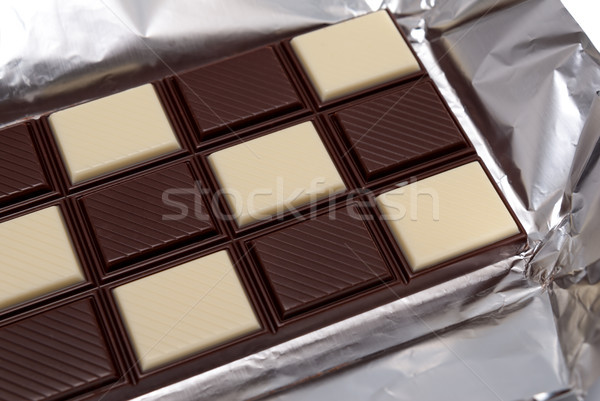 Food collection - Black and white chocolate Stock photo © nemalo