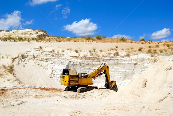 Dredge in sandy to career Stock photo © nemalo