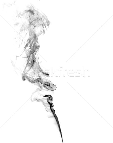 Abstract donkere rook licht brand kunst Stockfoto © nemalo
