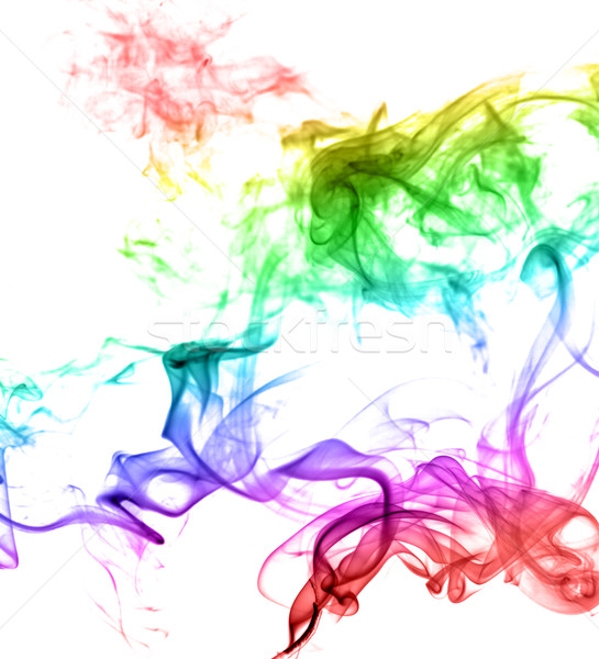 Abstract multicolore fumo luce arte onda Foto d'archivio © nemalo