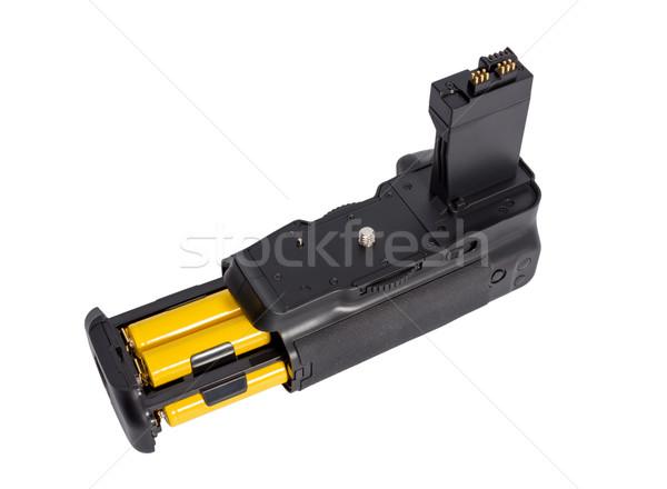 Elem markolás modern dslr kamera izolált Stock fotó © nemalo