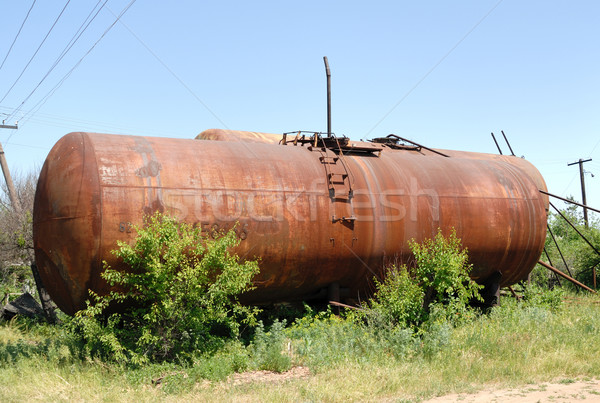 The old railway tank for transportation of mineral oil. Stock photo © nemalo
