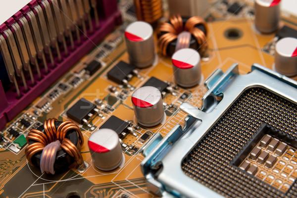 Elektronische collectie macht moderne bewerker moederbord Stockfoto © nemalo