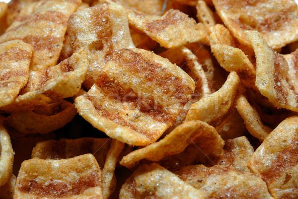 Bicoloured wheaten chips Stock photo © nemalo