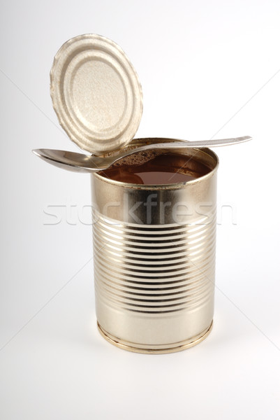 The open metal can Stock photo © nemalo