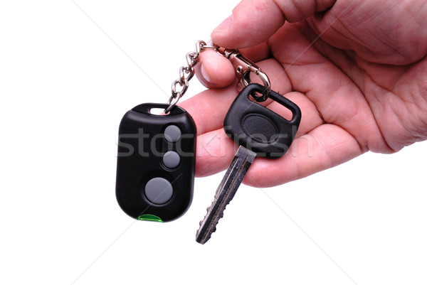 Car keys and remote control alarm system Stock photo © nemalo