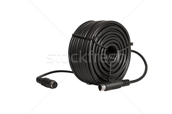 Elektronischen Sammlung Kabel Sicherheit Kameras cCTV Stock foto © nemalo
