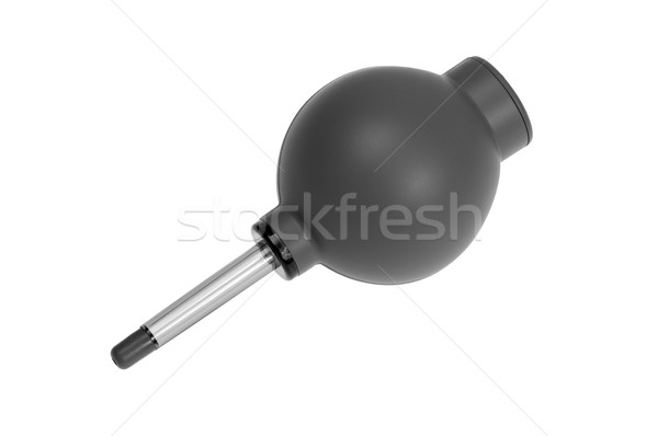 Gray rubber air blower pump dust cleaner Stock photo © nemalo