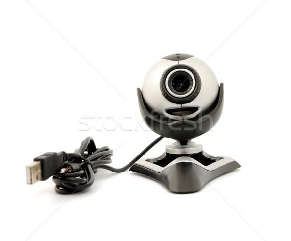 Webcam moderno isolado branco segurança teia Foto stock © nemalo