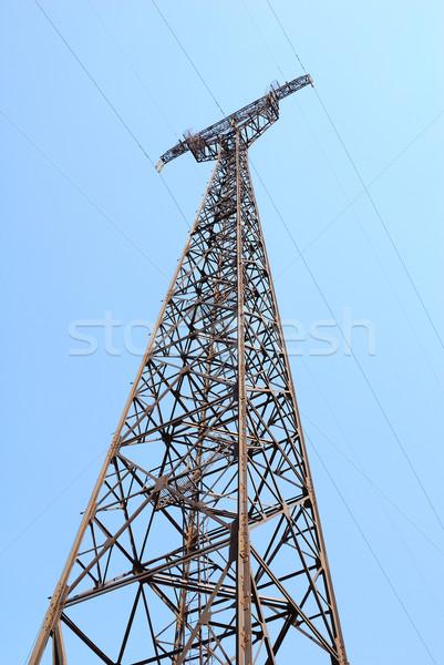電気 青空 高電圧 建設 技術 業界 ストックフォト © nemalo