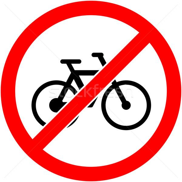 No bicicletta segno design bike Foto d'archivio © nemalo