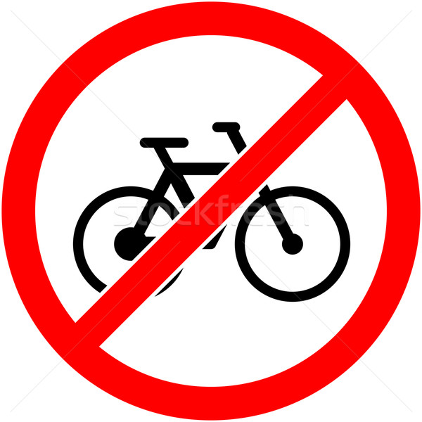 No bicycle sign Vector illustration. Flat design. Stock photo © nemalo