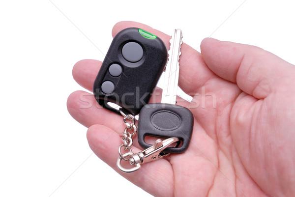 Car keys and remote control alarm system Stock photo © nemalo