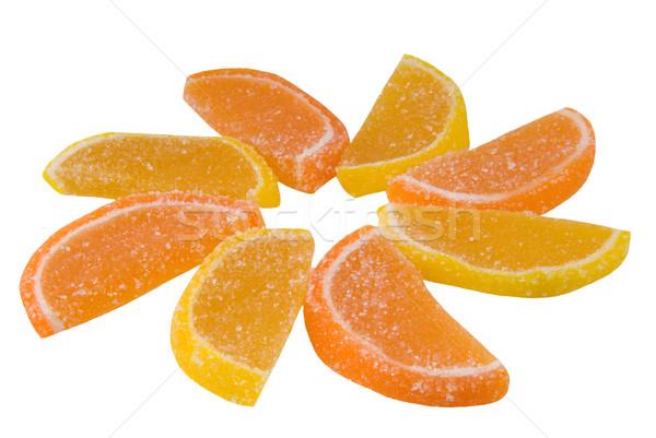 Dolci dolce frutta candy forma arancione Foto d'archivio © nemalo