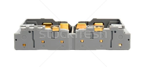 Câmera bateria fundo metal Foto stock © nemalo