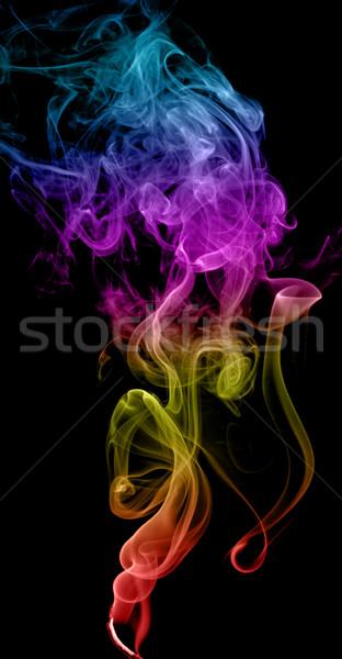 Soyut duman karanlık sanat siyah Stok fotoğraf © nemalo