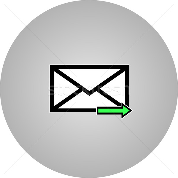 Email symbol letter icon - vector. Stock photo © nemalo