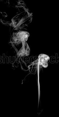 Abstrato fumar luz escuro fogo preto Foto stock © nemalo